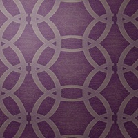 Abacus WC Fresh Eggplant Geometric Circles
