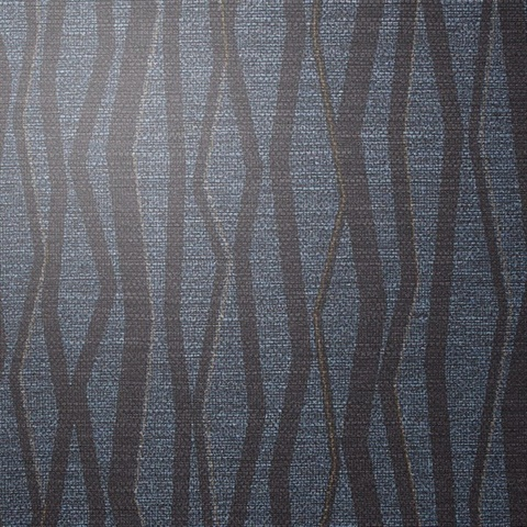 Abstract Indigo Ink Vertical Stripe on Linen