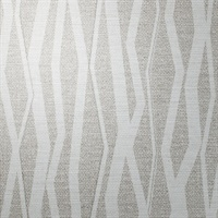 Abstract Noble Gray Vertical Stripe on Linen