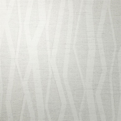 Abstract Silvery Mist Vertical Stripe on Linen