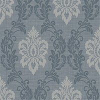 Adela Denim Twill Damask
