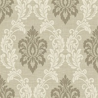 Adela Neutral Twill Damask