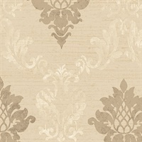 Beige Stephanie Damask