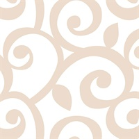 Beige & White Scroll