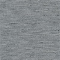 Chet Charcoal Grey Silk Linen Wallcovering