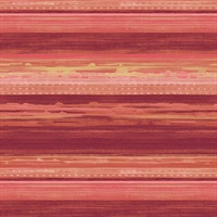Cranberry, Scarlet and Blonde Commercial Horizontal Stria Wallcovering