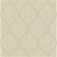 Cream Damask Commercial Wallcovering
