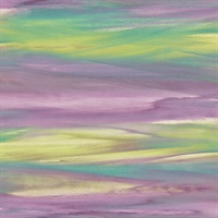 Green, Olive & Violet Commercial Rainbow Brush Wallcovering