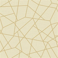 Heath Gold Geometric Linen
