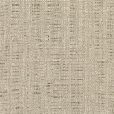 Jonus Taupe Faux Grcloth Wallpaper