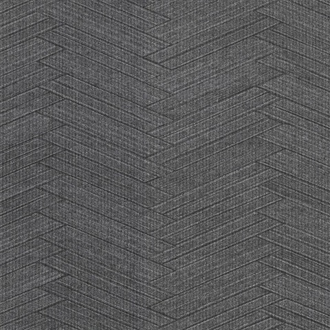 Karma Charcoal Herringhone Weave