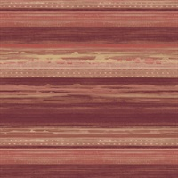 Maroon, Taupe & Blonde Commercial Horizontal Stria Wallcovering