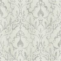 Neutrals Damask Commercial Wallcovering