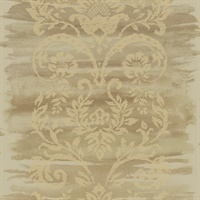 Neutrals & White Damask Commercial Wallcovering