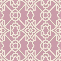 Purple & White Commercial Modern Geometric Lattice Wallcovering