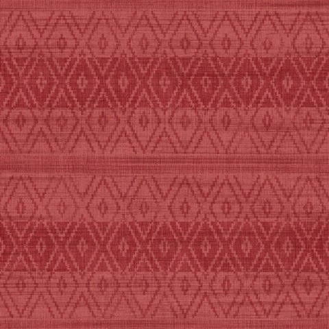 Red Commercial Tribal Stripe Wallcovering