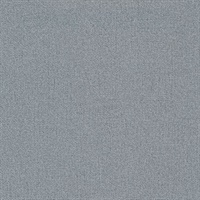 Rollins Blue Faux Linen Wallcovering