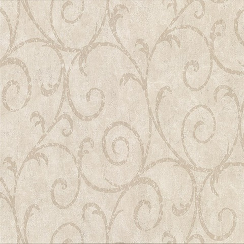 Sansa Beige Plaster Scroll