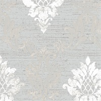 Silver Stephanie Damask