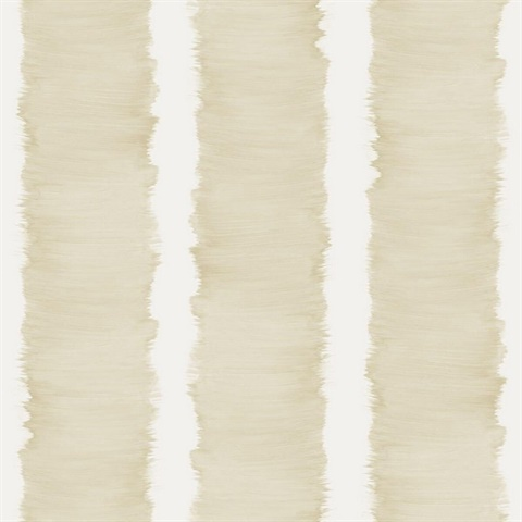 White & Beige Commercial Stripe Wallcovering