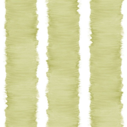 White & Green Commercial Stripe Wallcovering