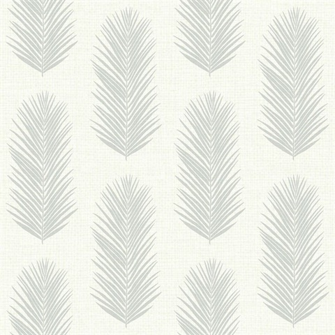 White & Grey Commercial Leaf Paperweave Wallcovering